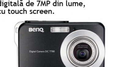 Cea mai subtire camera digitala de 7MP din lume cu touch screen