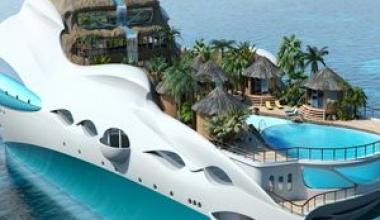 Iahturi inedite: insula plutitoare, strazile din Monaco si pagode chinezesti
