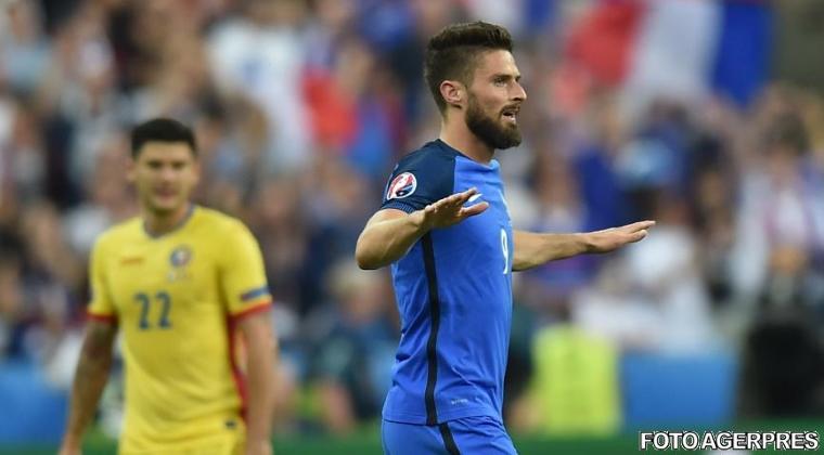 Olivier Giroud: S-ar fi putut dicta fault in atac la faza golului marcat de el la meciul cu Romania