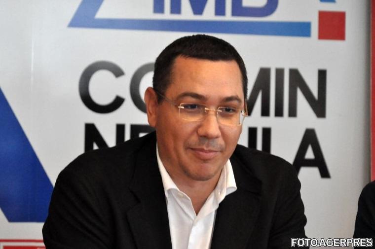 Ponta a anuntat ca isi depune candidatura pentru sefia Camerei Deputatilor