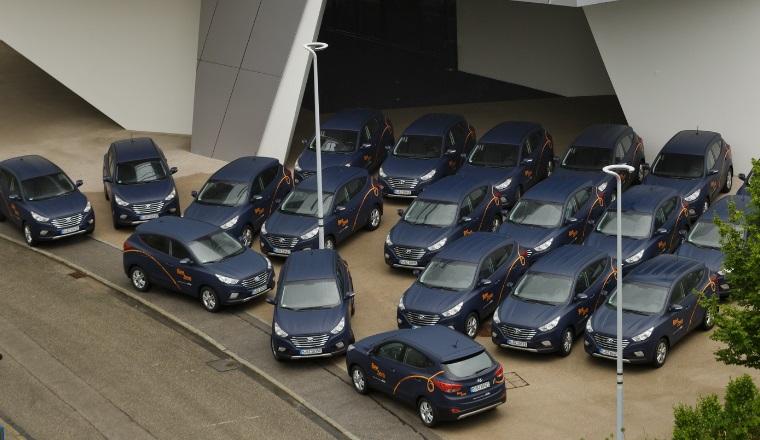 O firma germana face car sharing cu masini Hyundai ix35 Fuel Cell pe hidrogen