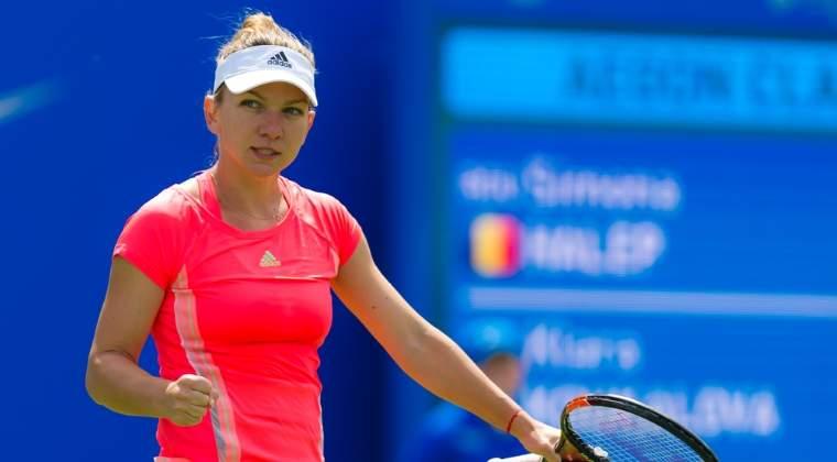 Simona Halep s-a calificat a doua oara in cariera in optimi, la Wimbledon