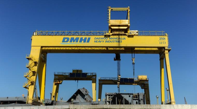 Santierul naval Daewoo Mangali si-a dublat afacerile in 2015, la 2 miliarde de lei