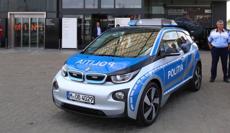 Politia Capitalei va avea, in premiera, o masina electrica, pentru o perioada de o luna