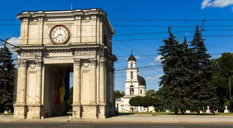 Violente la un protest organizat astazi la Chisinau, cu ocazia a 25 de ani de la declararea independentei de catre Republica Moldova