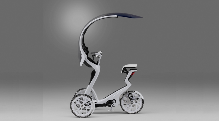 Yamaha si BASF au dezvoltat vehiculul electric I05GEN, cu trei roti