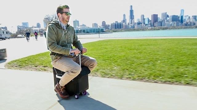 Modobag, bagajul motorizat inventat de americani, poate rula cu 12 km/h