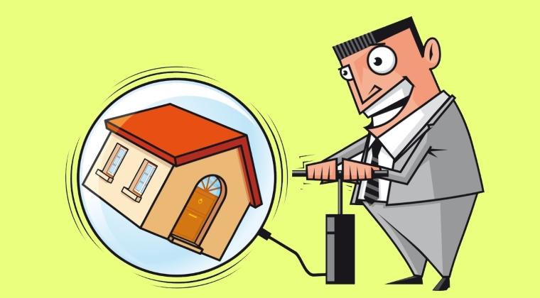 """Un nou inceput de """"balon"""" imobiliar in Romania? Cresterile de salarii si scaderea productivitatii pot da startul unei noi crize"""