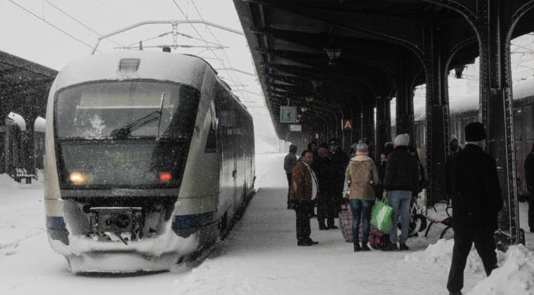 CFR SA: Trenurile intra in conditii normale in Gara de Nord, circulatia feroviara in zona Capitalei a reintrat in grafic