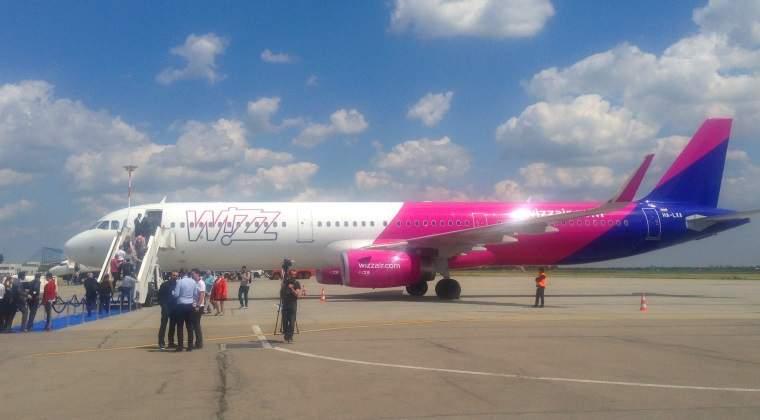 Wizz Air a transportat 100.000 de pasageri pe ruta Bucuresti-Cluj Napoca in mai putin de un an
