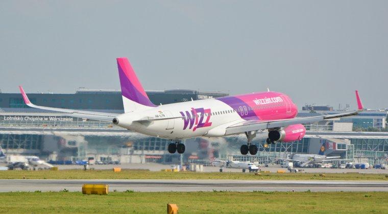 Wizz Air introduce trei curse noi, de la 69 lei pe zbor