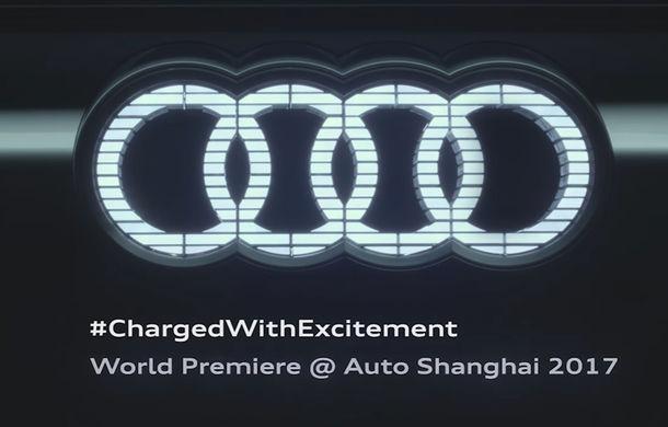 Audi pregateste un nou concept e-tron: va avea logo-ul iluminat cu LED-uri si blocuri optice alungite