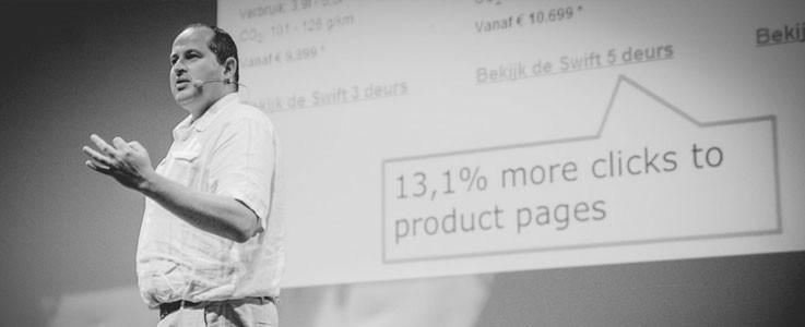 Karl Gilis, UX expert: Renunta la slide-uri, primul primeste, oricum, 90% din click-uri