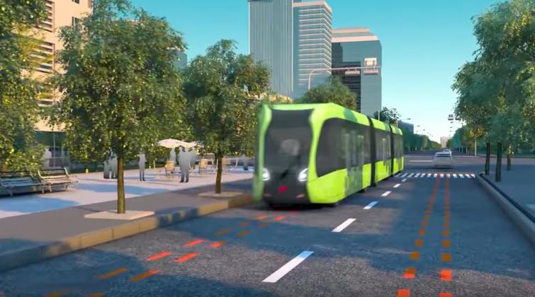 Primul tramvai din lume fara sine este in teste in China