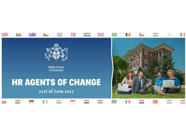 (P) British School of Bucharest organizeaza evenimentul de resurse umane HR Agents of Change