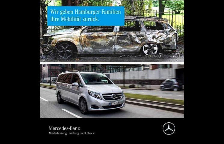 Mercedes-Benz ofera masini familiilor afectate de actele de vandalism de la Summit-ul G20