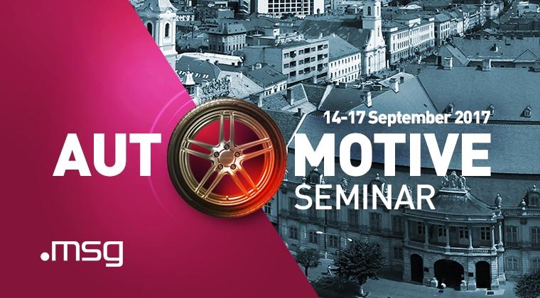 "(P) IT-istii clujeni, gazda pentru invitati din Germania, China si Singapore la ,,Automotive Seminar msg 2017"""