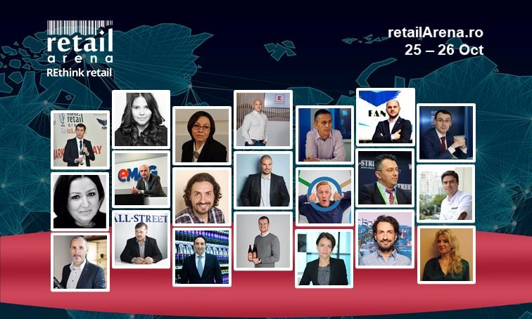 Prima zi la RetailArena 2017: 15 speakeri, 2 studii, workshop interactiv, discutii si speech-uri inspirational
