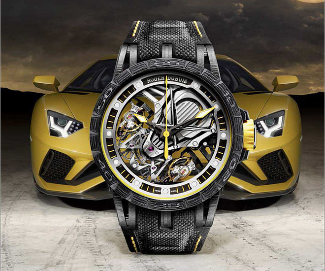 Lifestyle - Ceasul in editie limitata Roger Dubuis Excalibur Aventador S a ajuns in Romania. Costa 210.000 euro