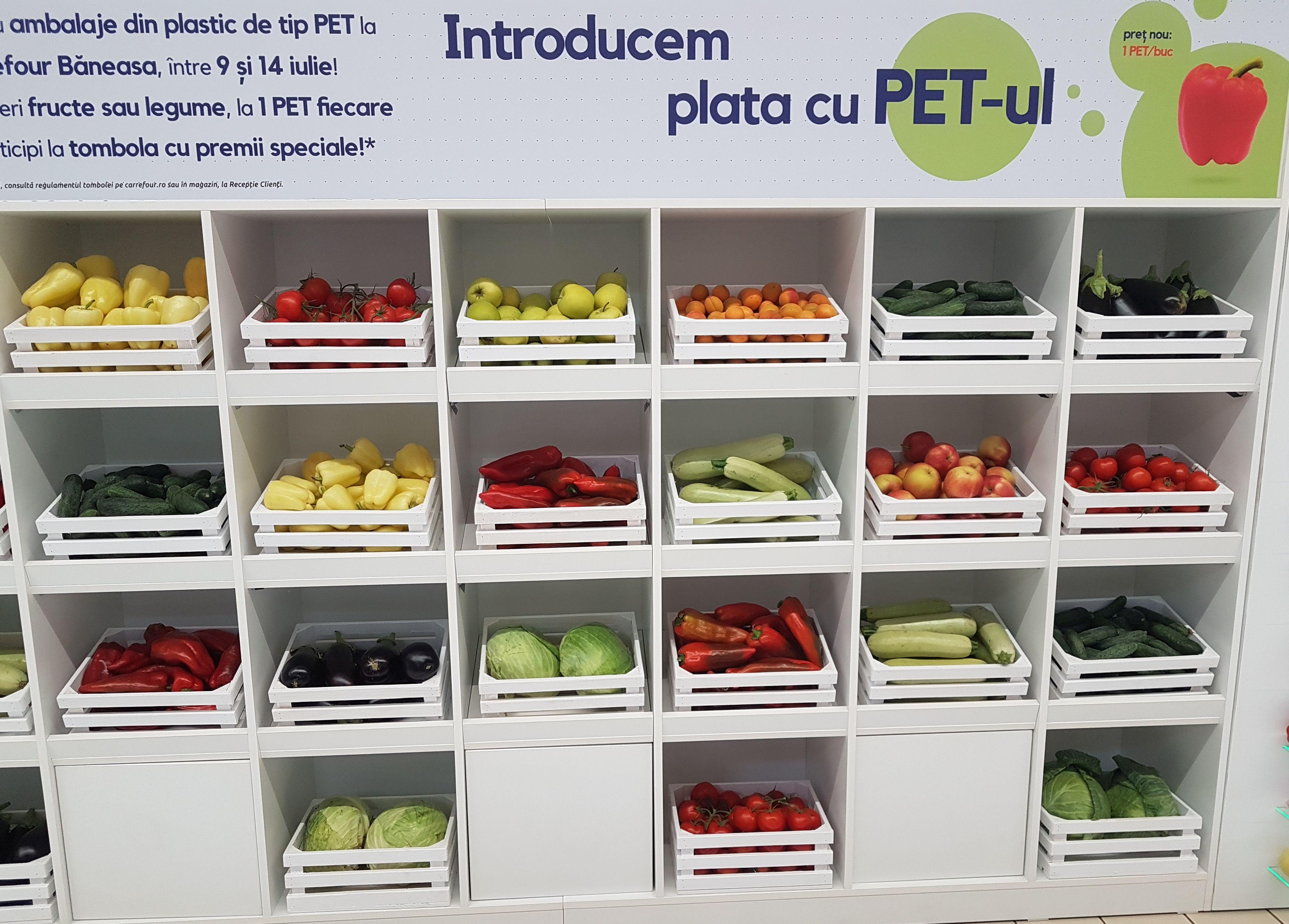 Unde poti cumpara fructe si legume cu PET-uri in loc de bani