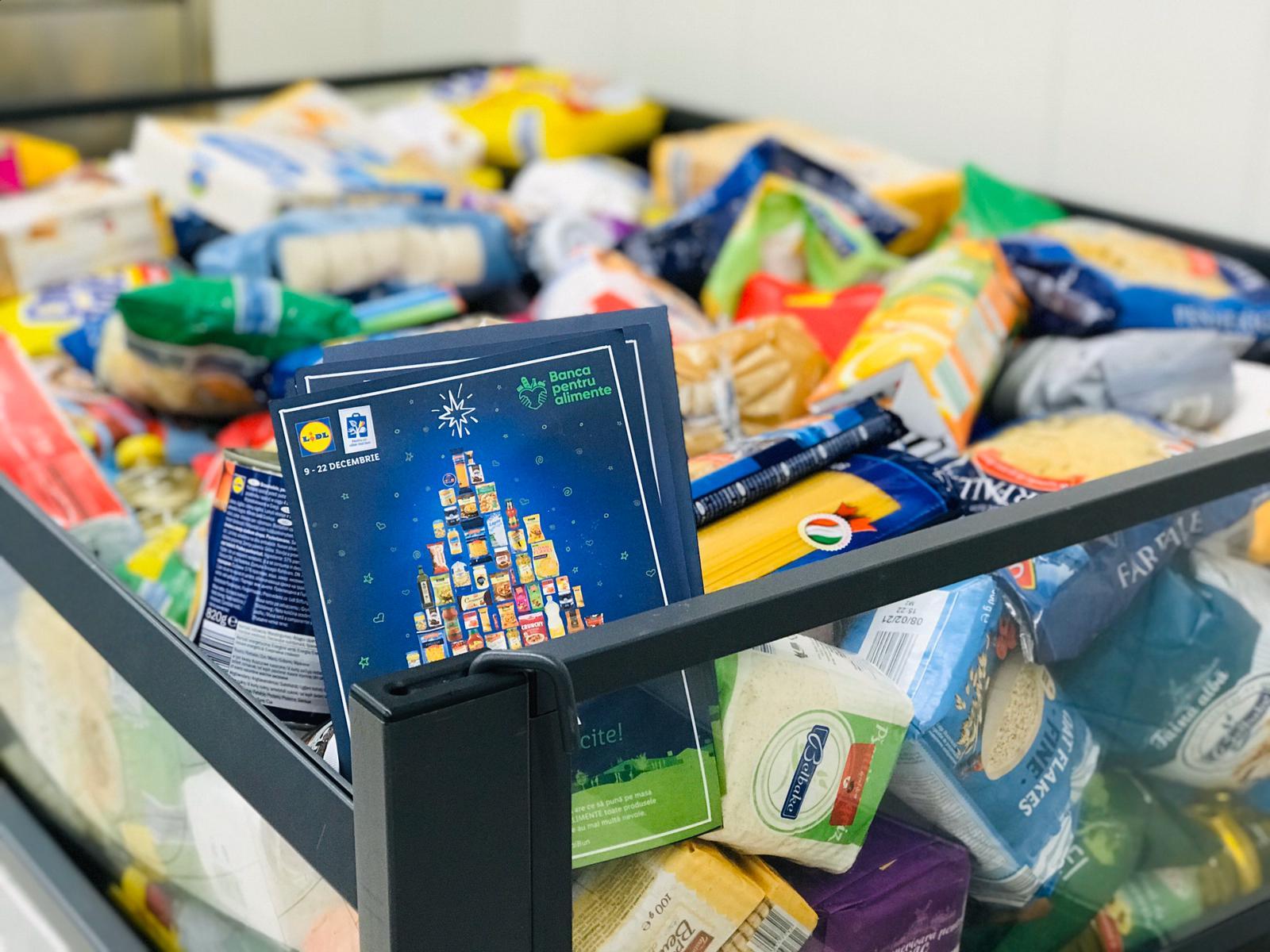 Clientii Lidl din patru orase au donat peste 16 tone de alimente pentru persoanele defavorizate