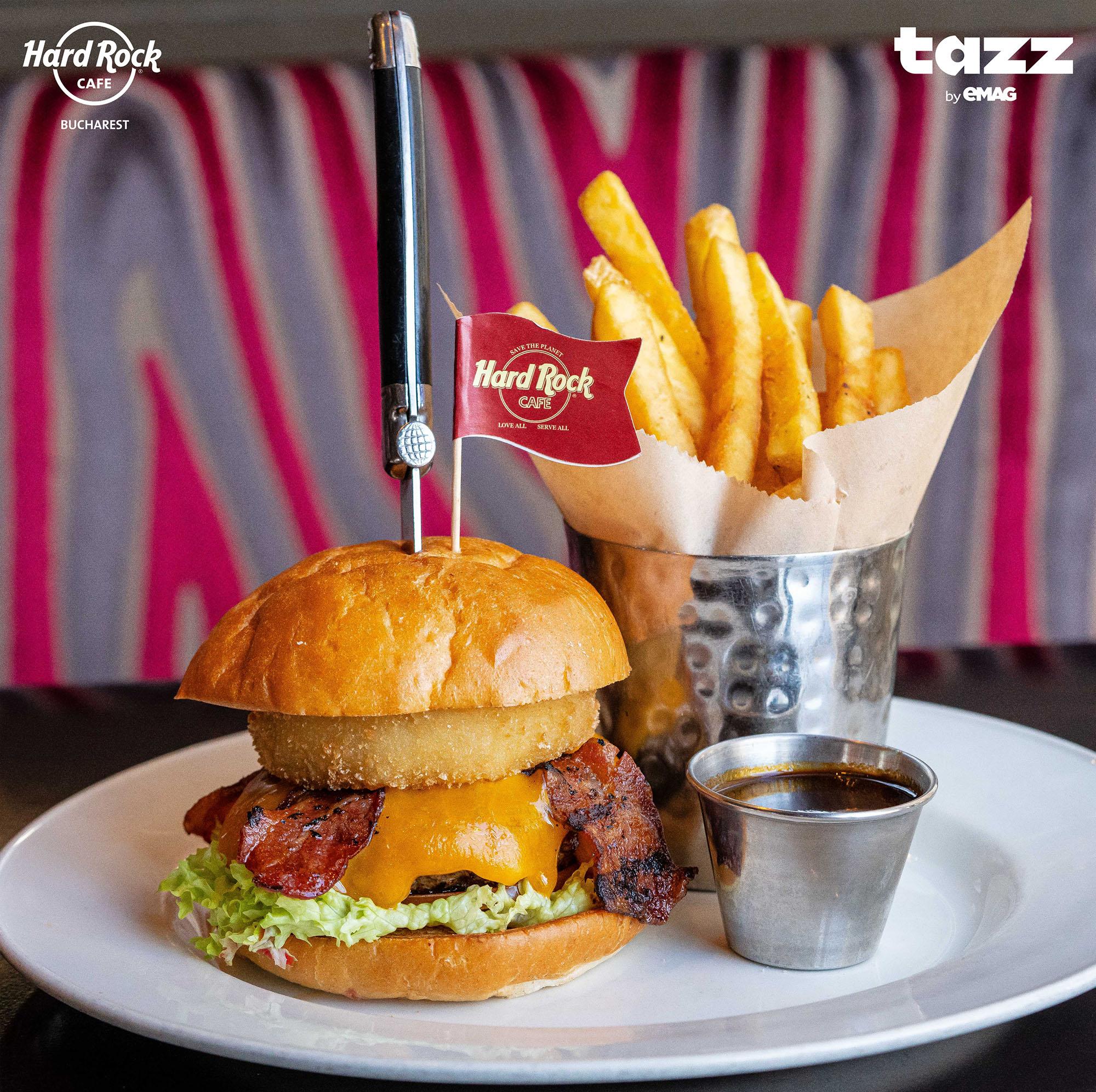 Hard Rock Cafe livrează prinTazz by eMAG