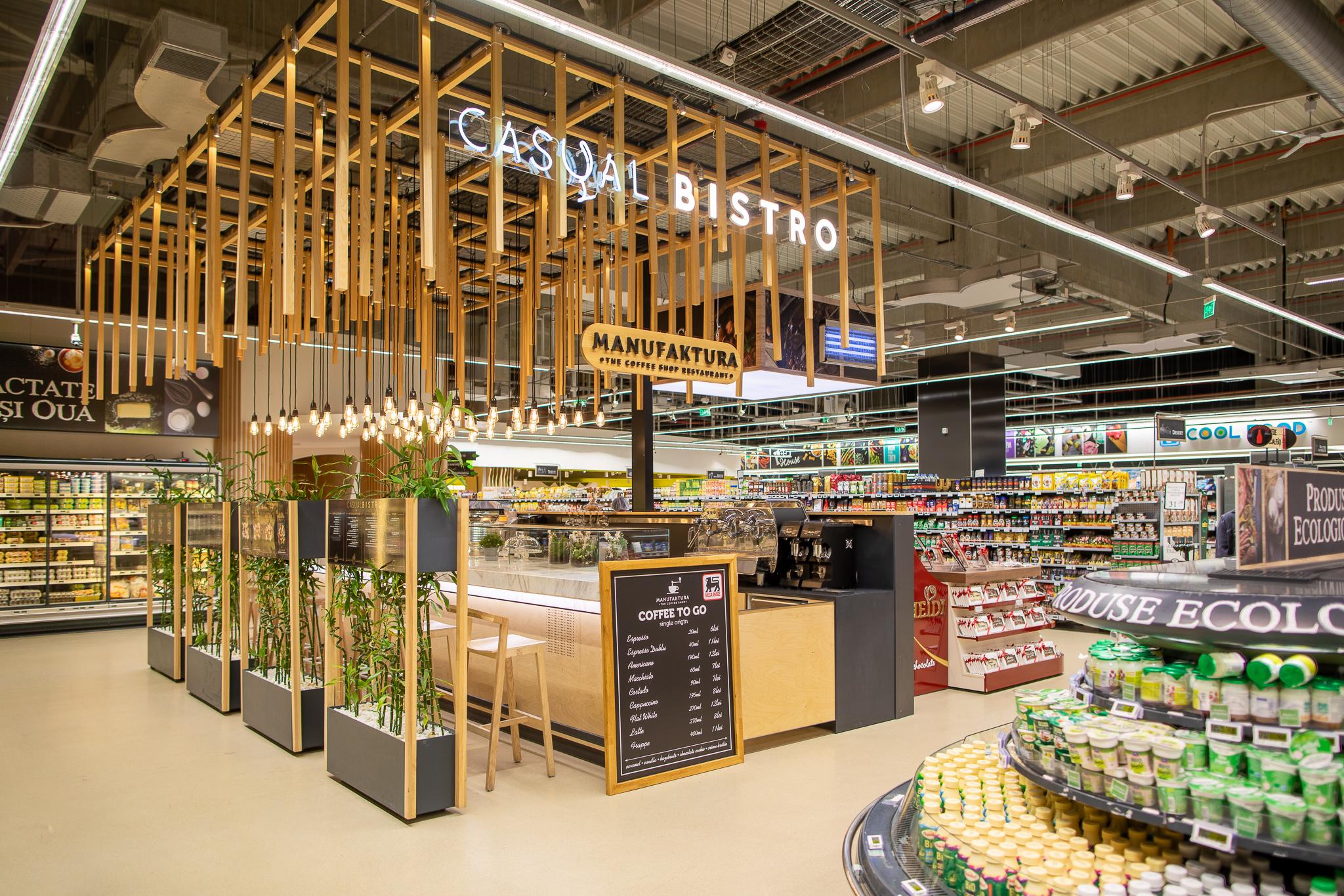 Mega Image aduce coffee shop Manufaktura și o zonă dedicată cu ciocolată Venchiîn Concept Store Băneasa