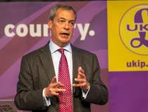Nigel Farage, liderul UKID,...