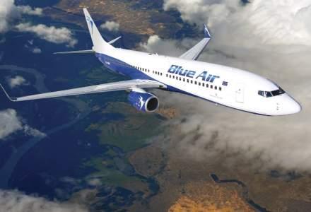 Blue Air a inregistrat un numar de pasageri in crestere cu 82% in S1