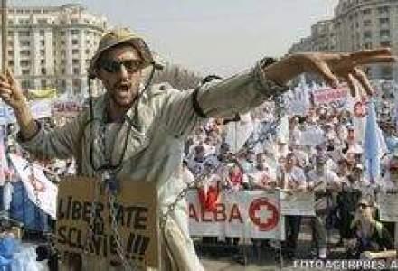 Mii de sindicalisti protesteaza astazi in Capitala
