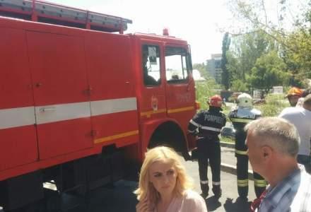 Incendiu in nordul Capitalei: Fumul negru se vede din centrul Bucurestiului