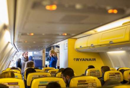 Joburi in aviatie: Ryanair face recrutari in trei orase din Romania in noiembrie