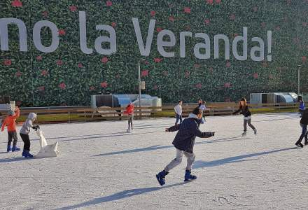 Veranda Mall deschide primul patinoar in aer liber din cartierul Obor