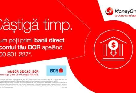 BCR lanseaza cu MoneyGram un canal suplimentar de transfer de bani direct in contul curent