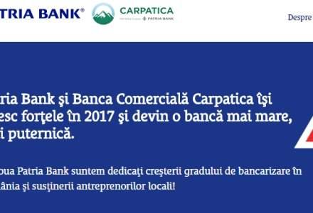Fuziunea Bancii Carpatica cu Patria Bank, amanata a doua oara, dar pentru o scurta durata