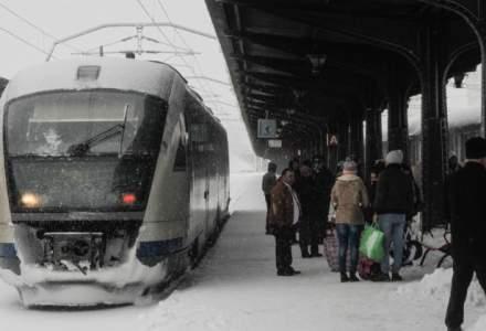 CFR Calatori: 93 de trenuri anulate, circulatie in conditii meteo nefavorabile pe regionalele Bucuresti, Craiova, Galati si Constanta