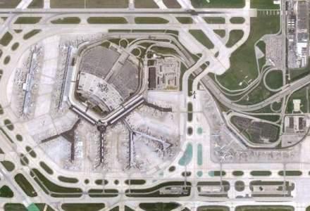 Cum arata din satelit cele mai aglomerate aeroporturi din lume si Henri Coanda