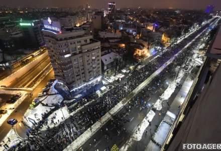 Mii de oameni in strada: proteste ample in toata tara impotriva legii amnistiei si gratierii