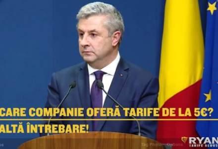 """Ryanair profita de """"celebrele"""" cuvinte ale ministrului Florin Iordache pentru a-si face reclama: """"Alta intrebare!"""""""