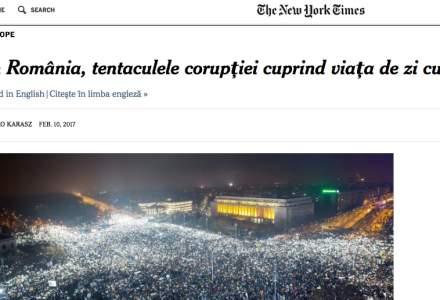 New York Times a publicat un articol in limba romana: In Romania, tentaculele coruptiei cuprind viata de zi cu zi