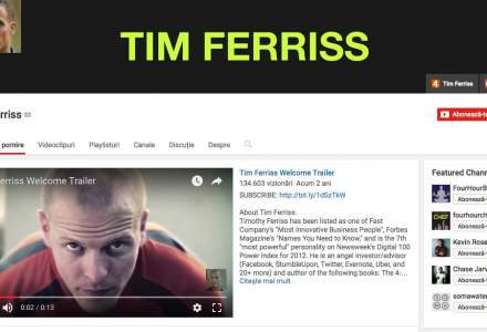 Sapte canale de YouTube pentru antreprenorii de succes