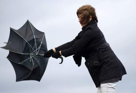 Ploi si vant puternic in toata tara, de sambata noapte pana luni dimineata