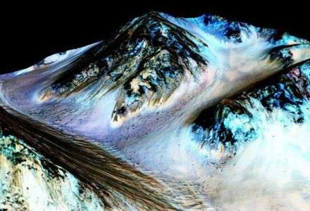 Marte a fost transformata de vanturile solare intr-o planeta uscata si rece