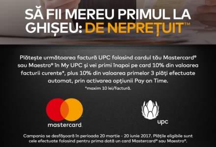Platesti cu Mastercard? UPC iti reduce factura