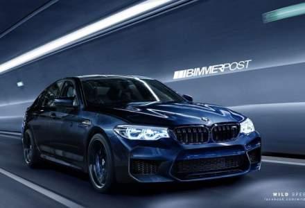 Noul model BMW M5 vine cu tractiune optionala spate, acoperis din fibra de carbon si peste 600 de cai putere
