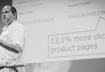 Karl Gilis, expert UX: Renunta la slide-uri, primul primeste, oricum, 90% din click-uri