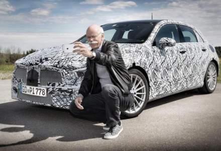 Mercedes-Benz publica primele fotografii cu viitoarea generatie Clasa A