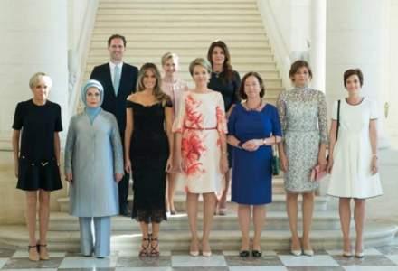 Casa Alba a omis numele sotului premierului Luxemburgului din descrierea fotografiei cu partenerii liderilor NATO