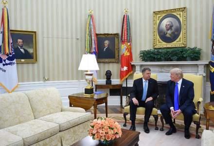 Klaus Iohannis, la Casa Alba. Este primul presedinte est-european primit de Donald Trump