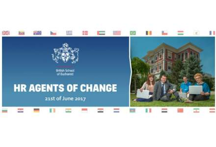 (P) British School of Bucharest organizeaza evenimentul de resurse umane HR Agents of Change